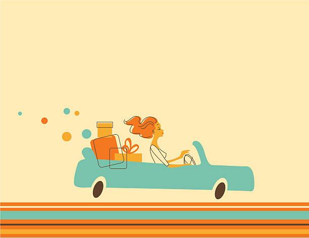 ilustrações, clipart, desenhos animados e ícones de mulher no carro - carro mulher