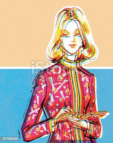 istock woman in Nehru jacket 97236455