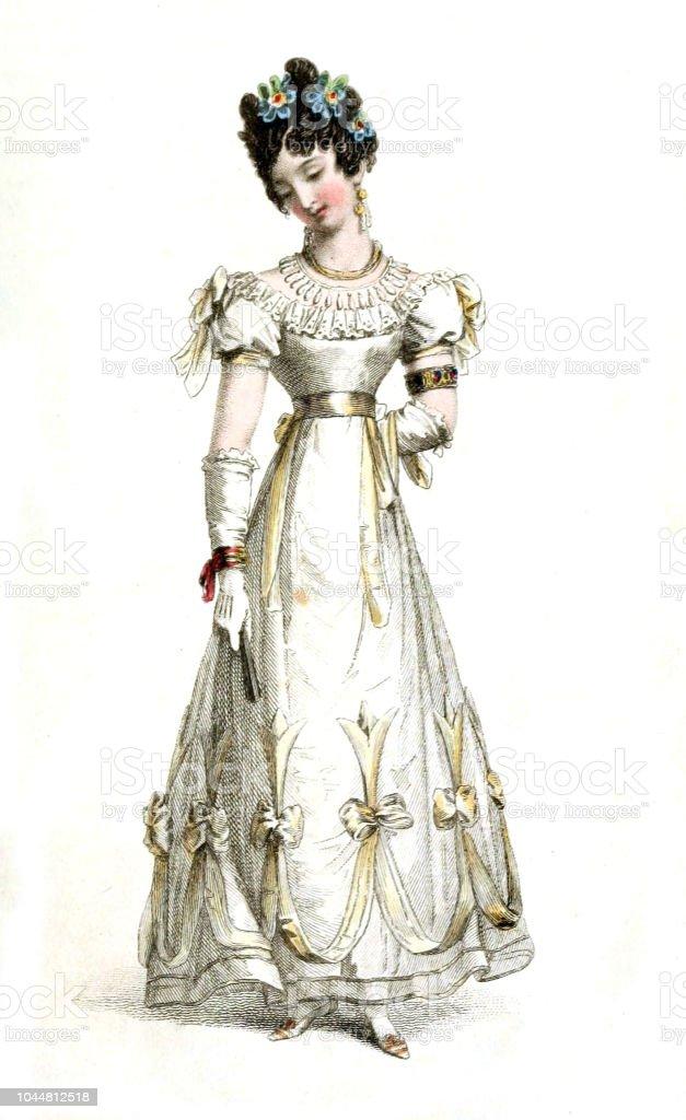 Femme D Mode Ancienne Cliparts De Et Plus Vectoriels – En Robe QtCshrd