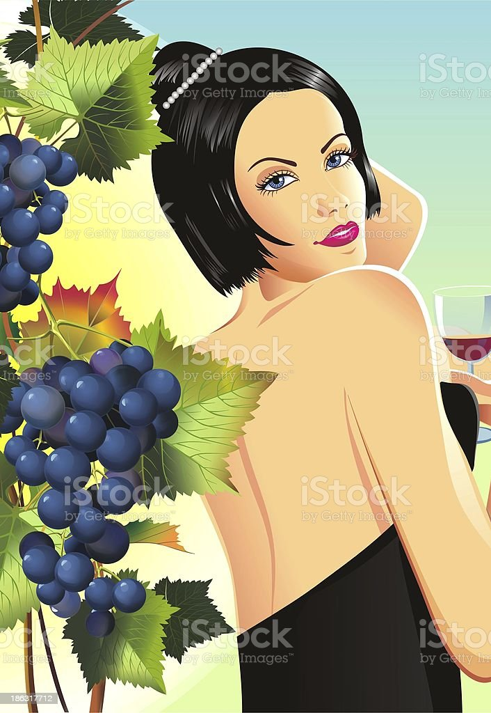 Woman in Winery royalty-free woman in winery stock vector art & more images of adult