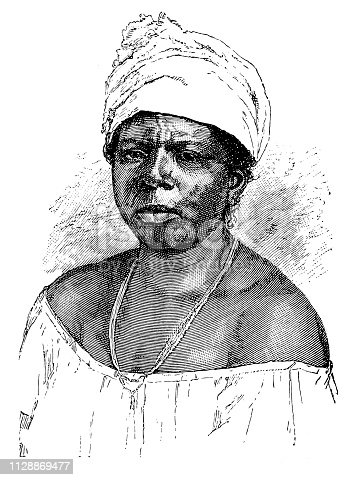 Illustration of a Woman of black African origin