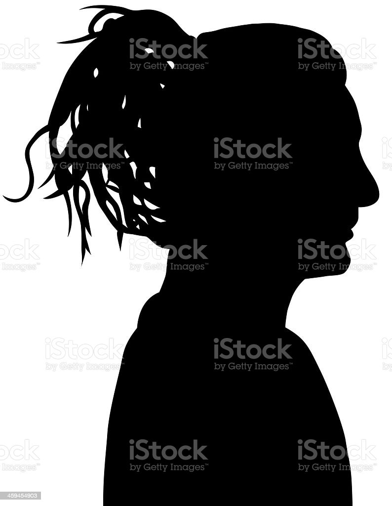 Woman Profile royalty-free stock vector art