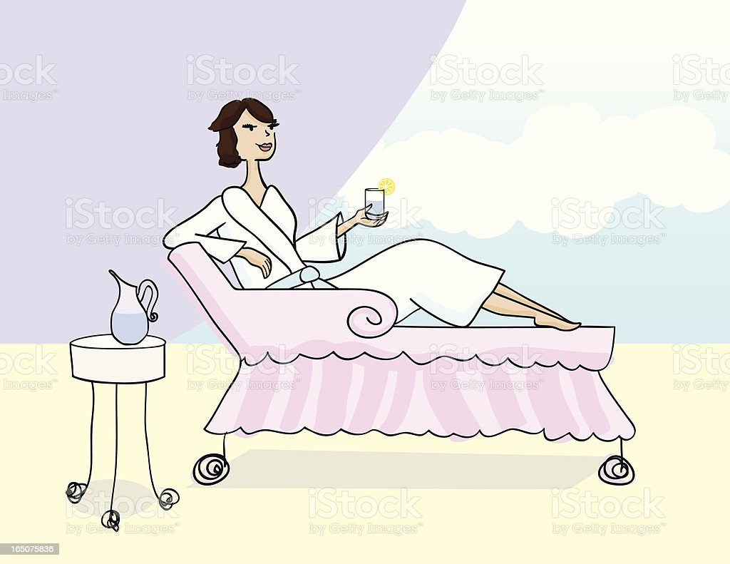 Woman Relaxing royalty-free woman relaxing stock vector art & more images of adult