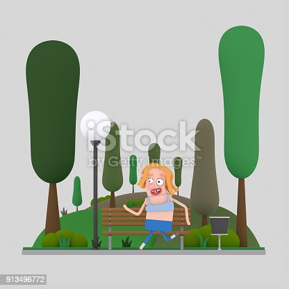 istock Woman running in the park 913496772