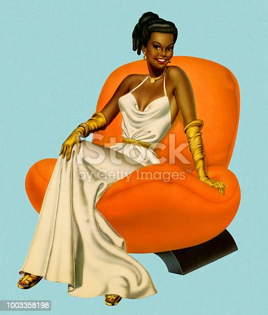 istock Woman Wearing an Evening Gown 1003358198
