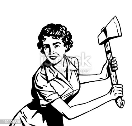 istock Woman With Axe 152406826