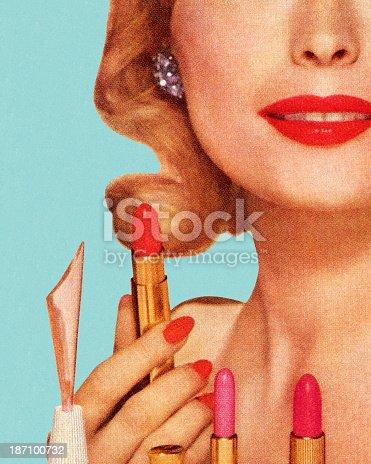 Woman With Lipsticks