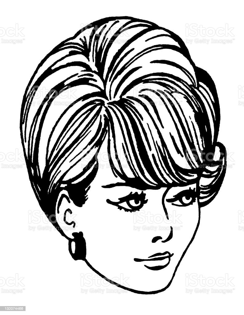 Woman With Retro Hairstyle Stock Vector Art More Images Of Adult