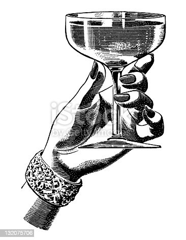 Woman's Hand holding champagne Glass