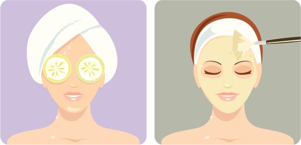 Women enjoy beauty treatments