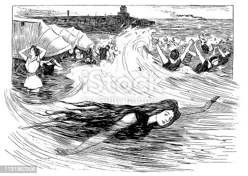Women in waves - 1896
