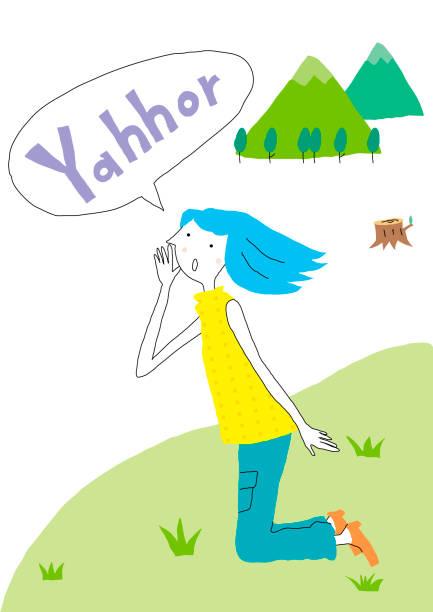 illustrazioni stock, clip art, cartoni animati e icone di tendenza di women lifestyle - forest bathing
