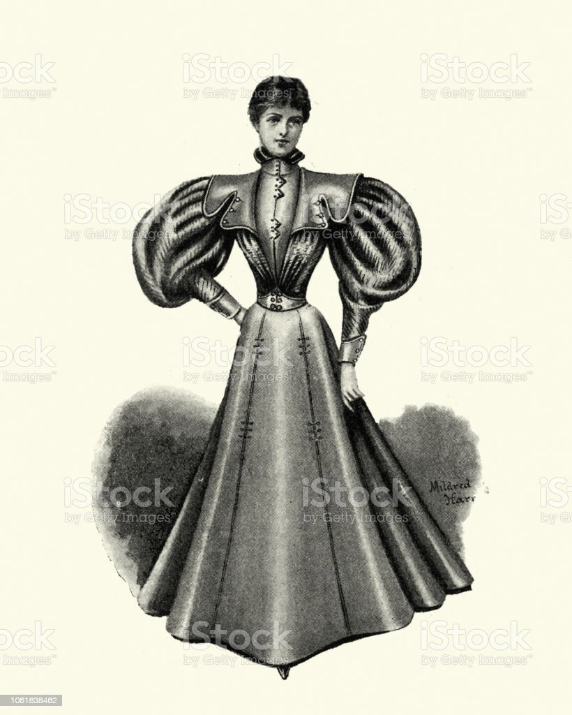 Puffy Sleeve Victorian Dress 1840