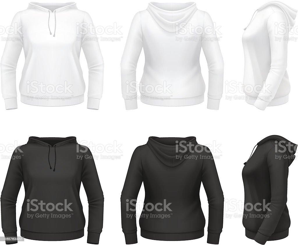 Women's hoodie vector art illustration