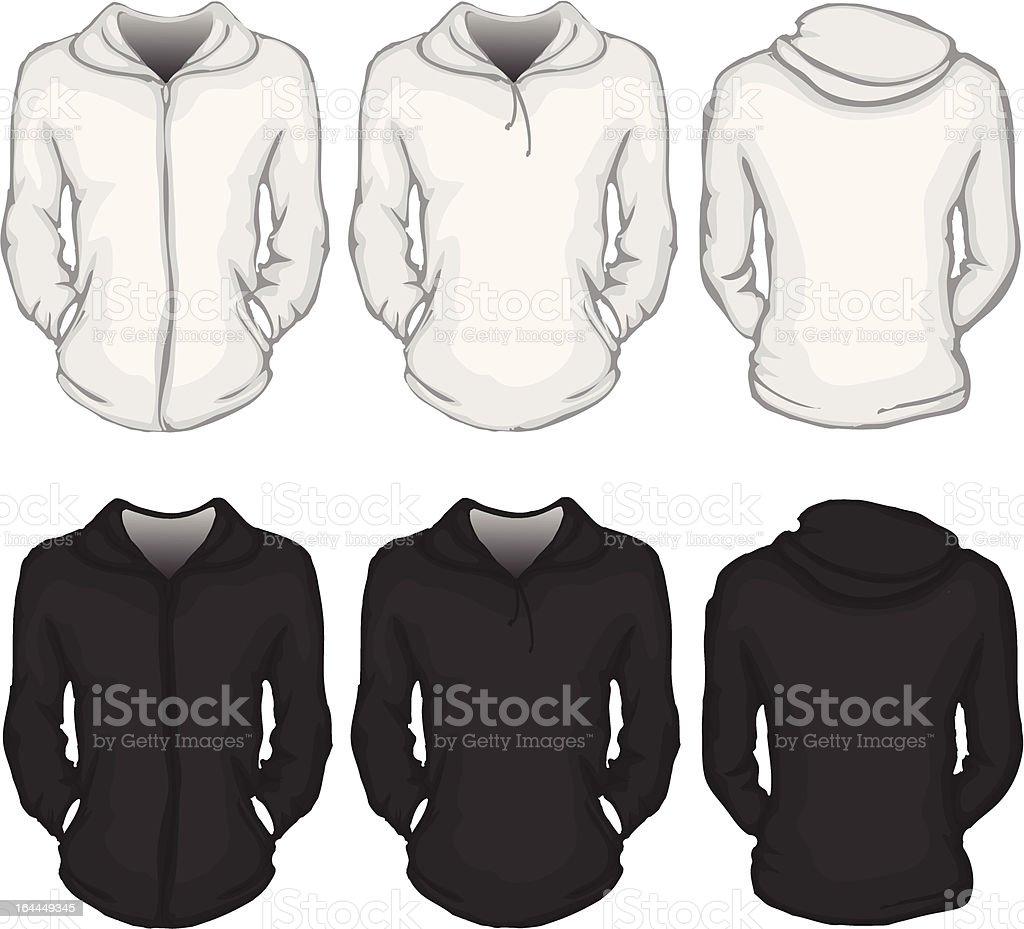 Hoodie Shirt Vorlage Für Damen Stock Vektor Art und mehr Bilder von ...