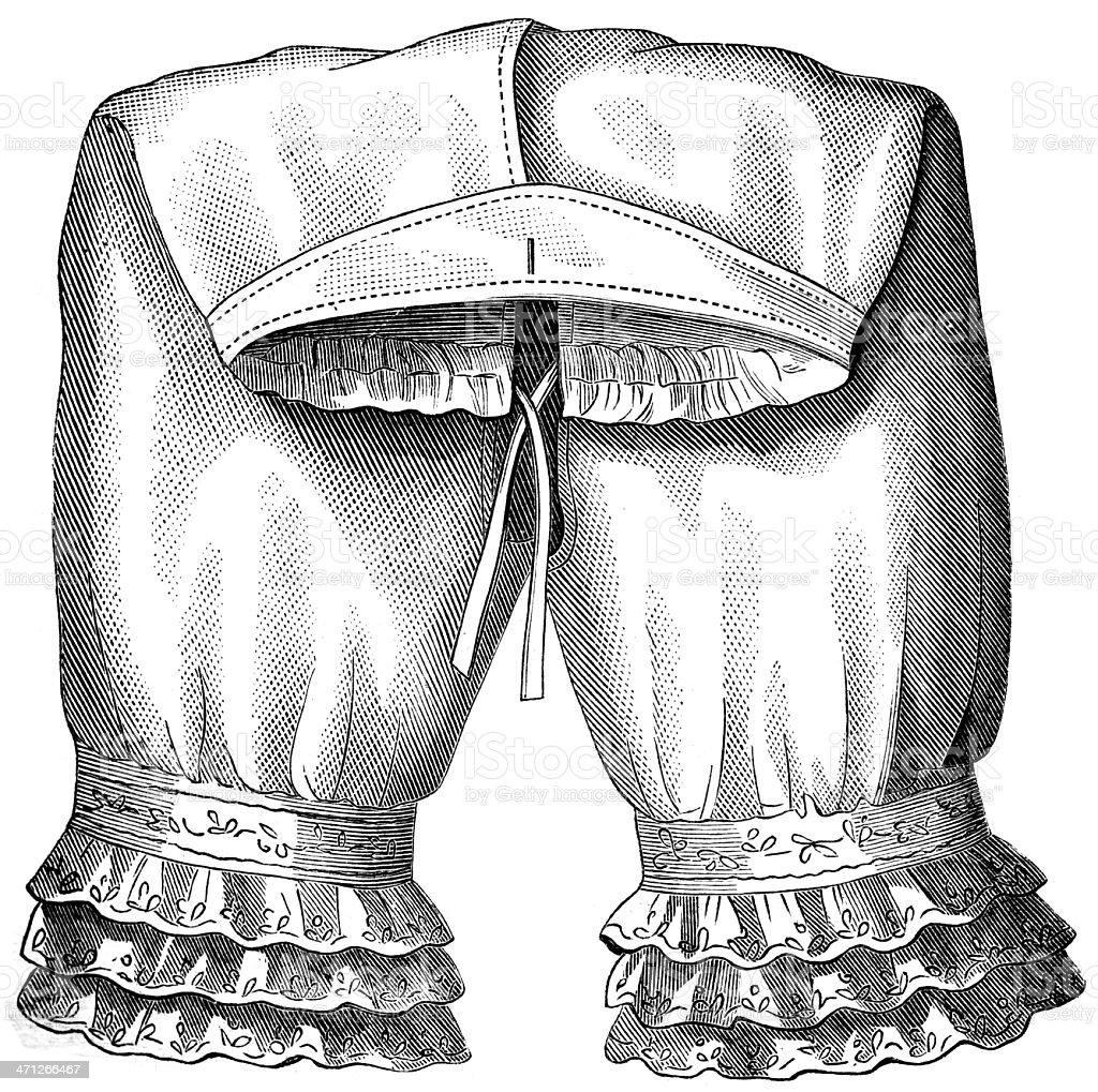 women`s pants royalty-free stock vector art
