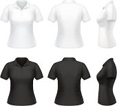 Vector illustration of classic polo shirt for women.