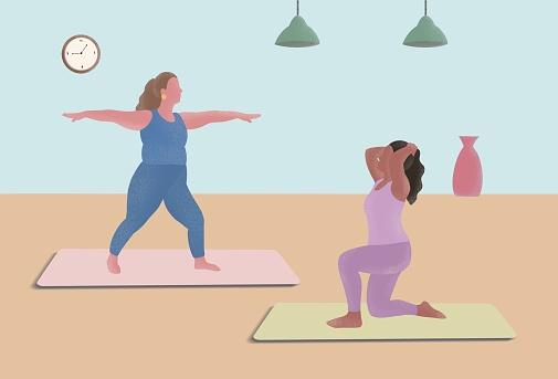 A women's yoga illustration