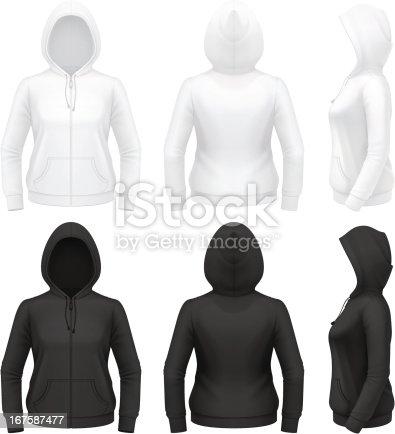 Women's zip hoodie with pockets