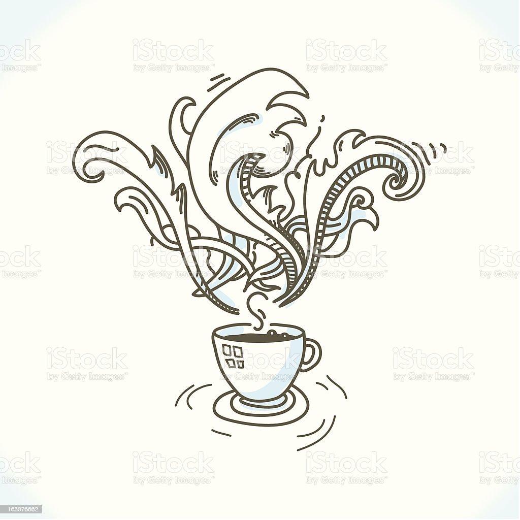 Wonderful coffee vector art illustration