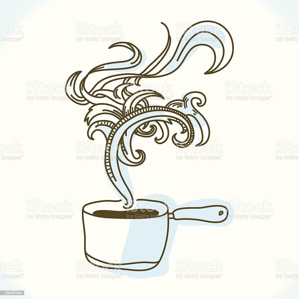 Wonderful soup vector art illustration