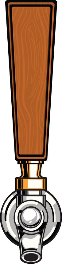 wood beer tap