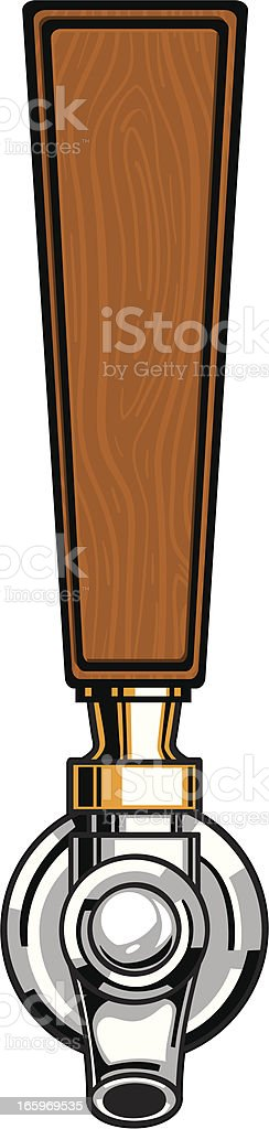 wood beer tap vector art illustration