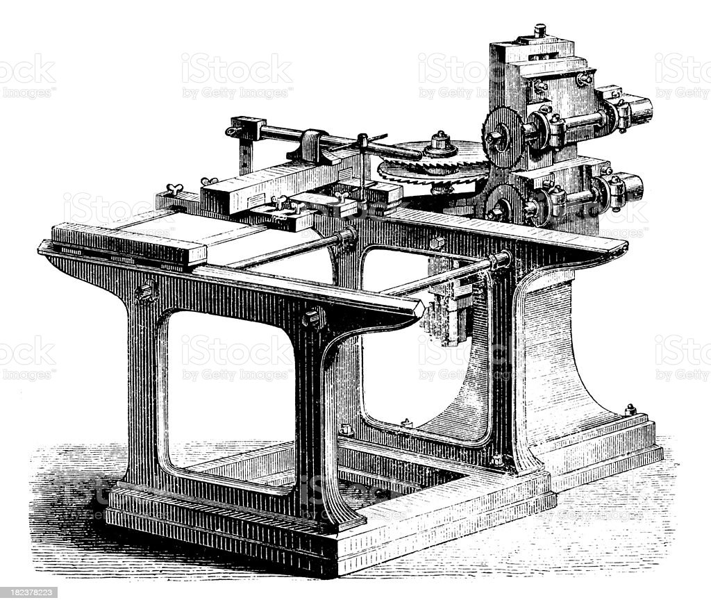 Wood Processing Machine | Antique Technical Illustrations royalty-free wood processing machine antique technical illustrations stock vector art & more images of 19th century