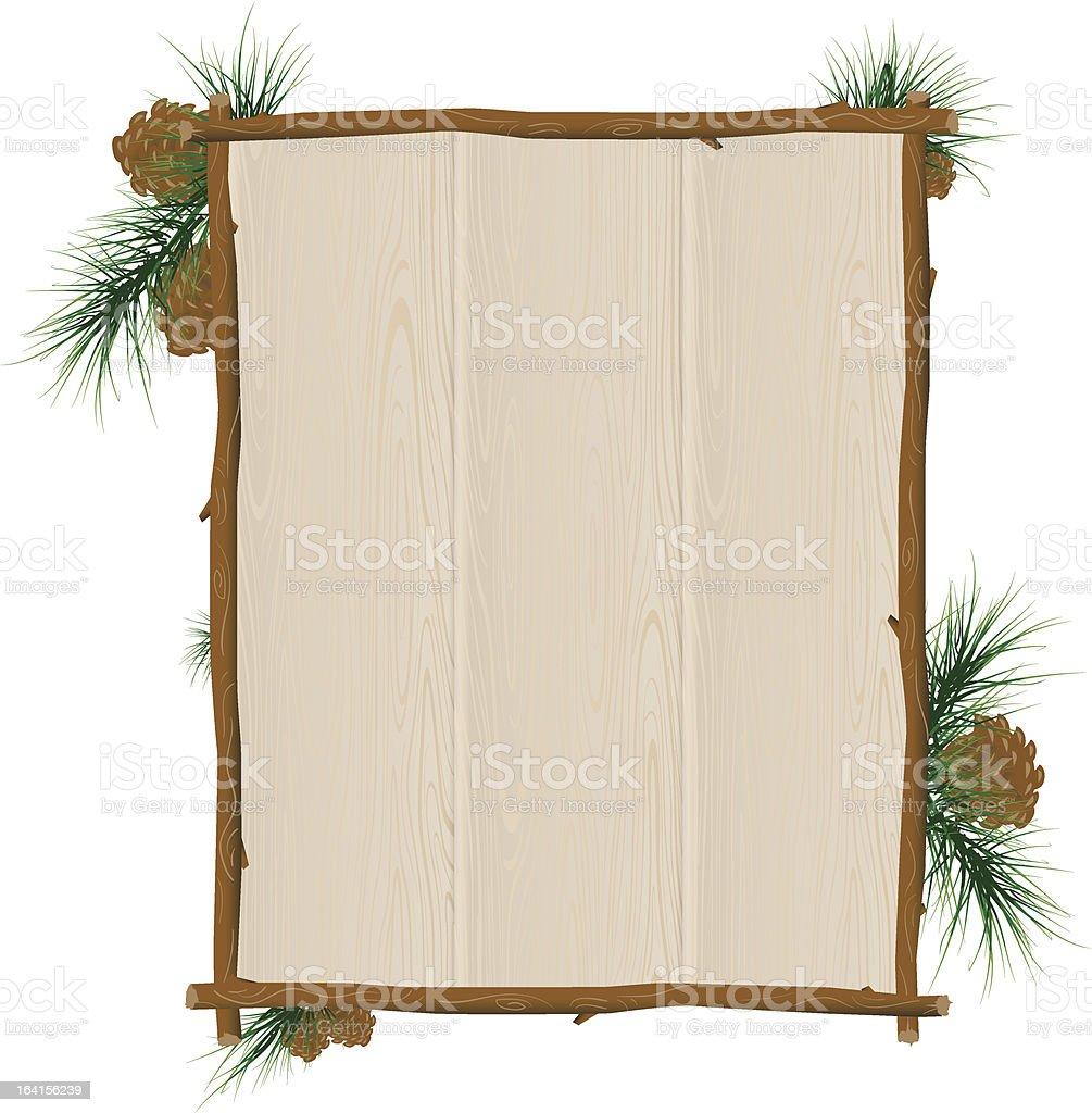wood sign royalty-free stock vector art
