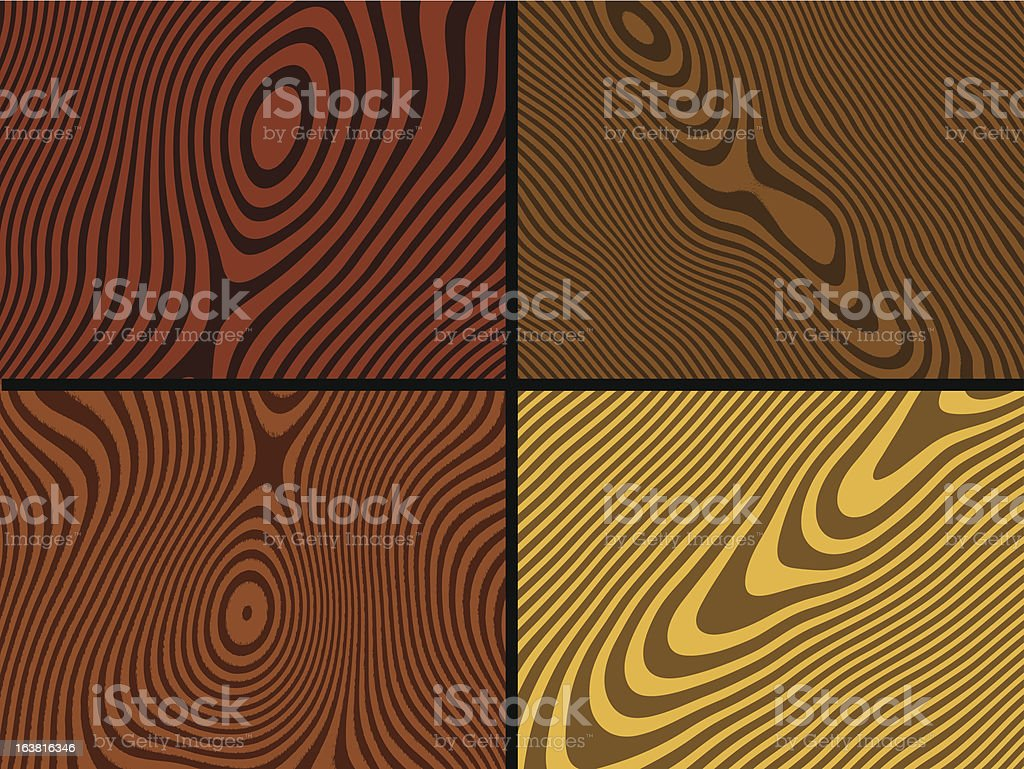 Wood textures royalty-free stock vector art