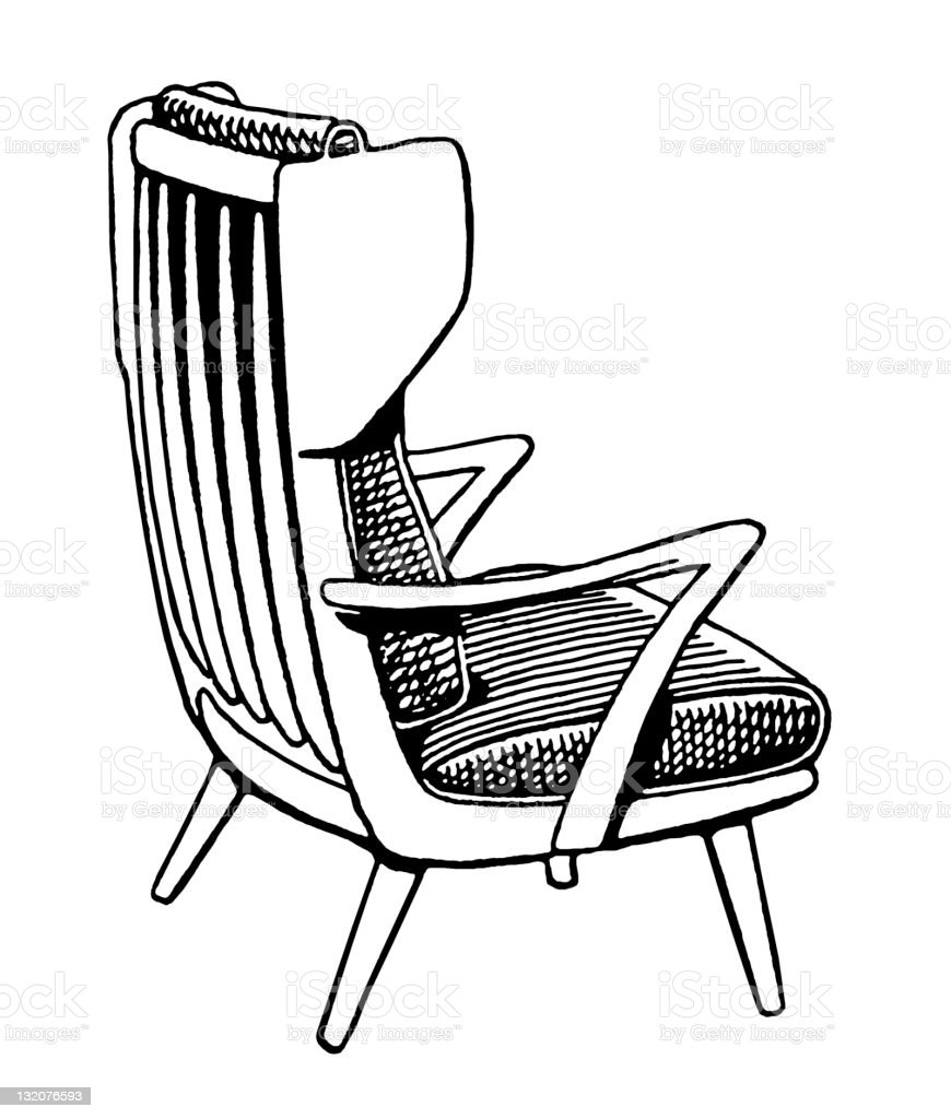 Wooden Armchair royalty-free stock vector art