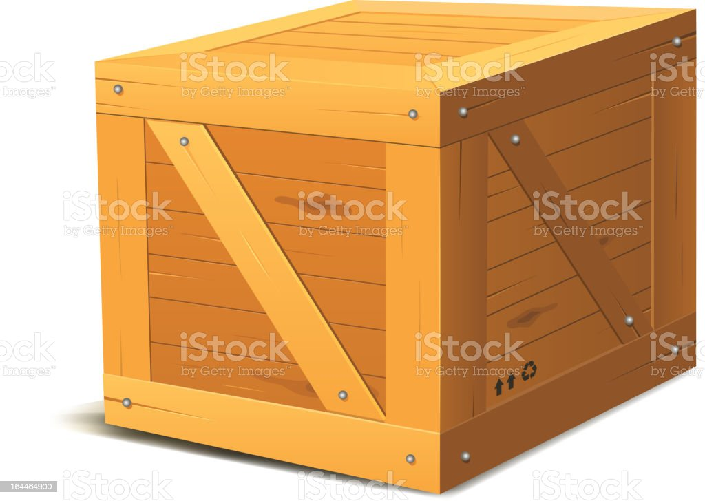 Royalty Free Wood Crate Clip Art  Vector Images