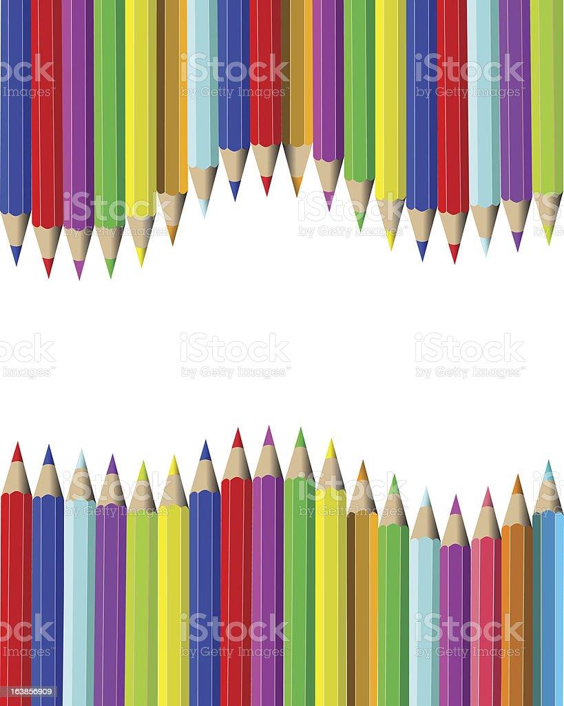 Wooden pencils royalty-free stock vector art
