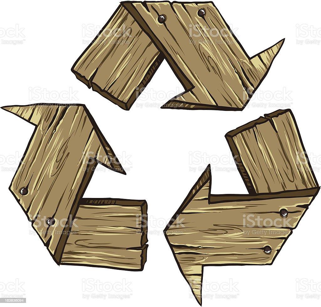 Ilustraci n de s mbolo de reciclaje de madera y m s - Reciclaje de la madera ...