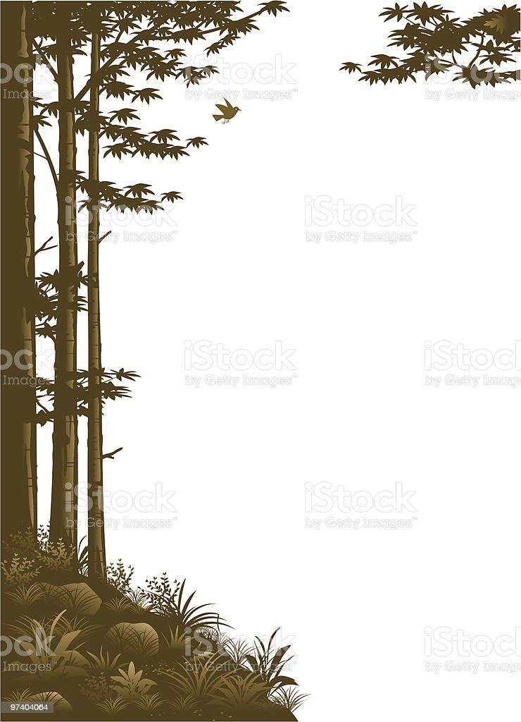 Woodland border royalty-free stock vector art