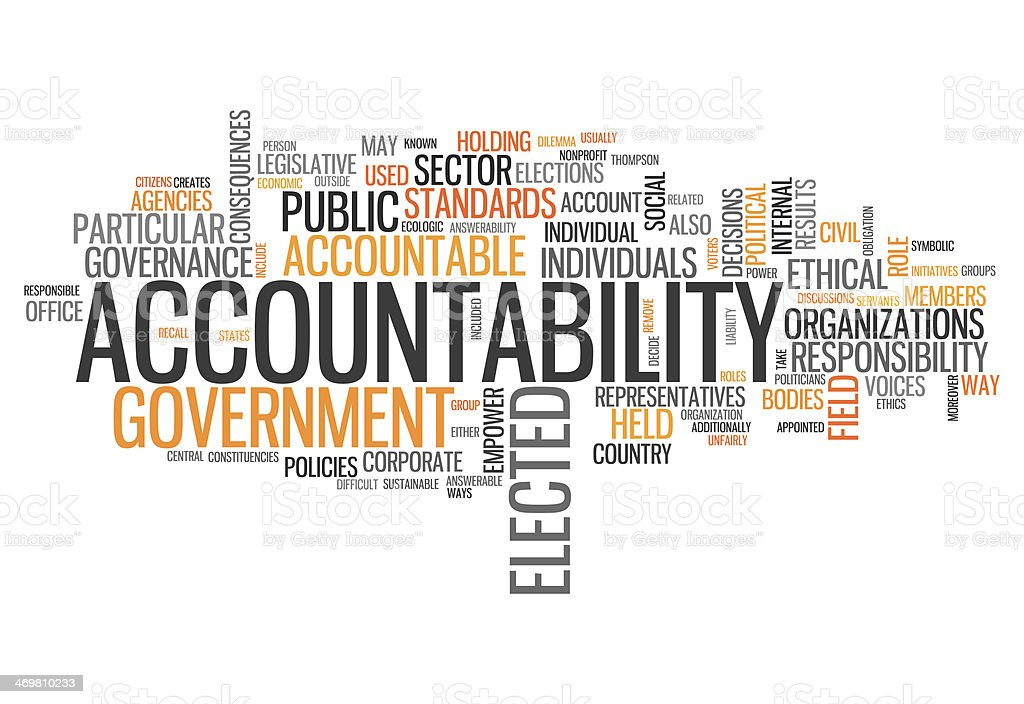 Word Cloud Accountability vector art illustration