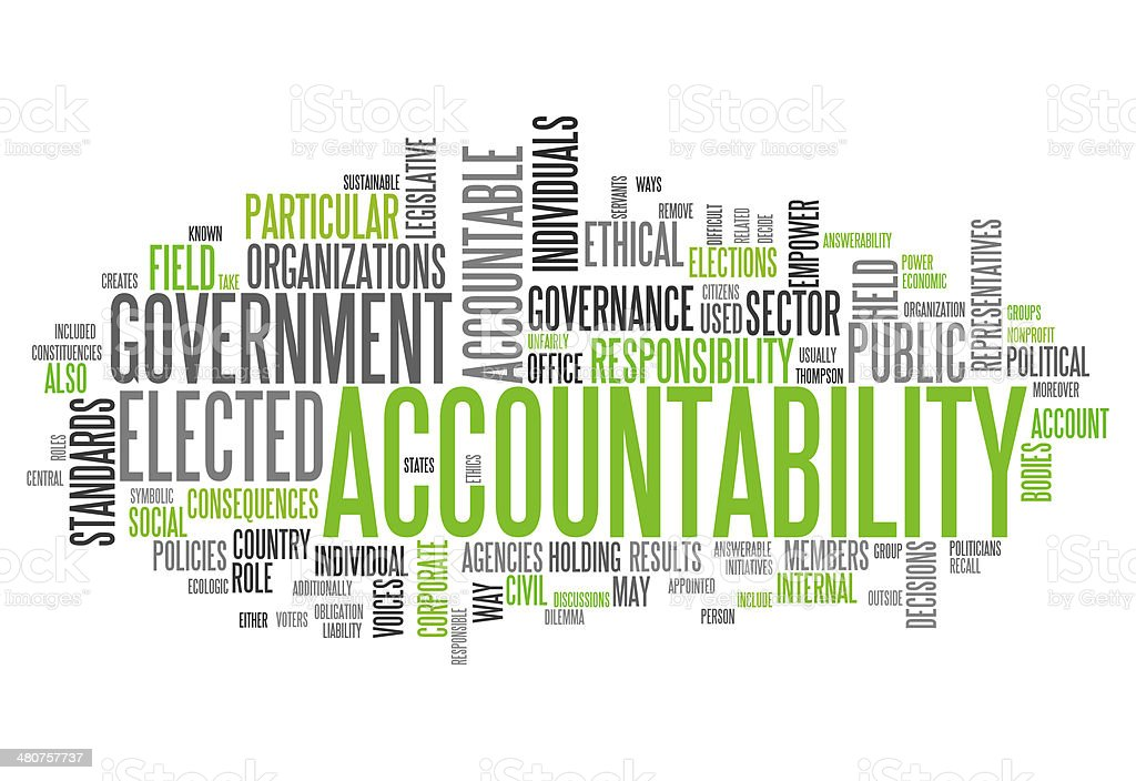 Word Cloud 'Accountability' vector art illustration