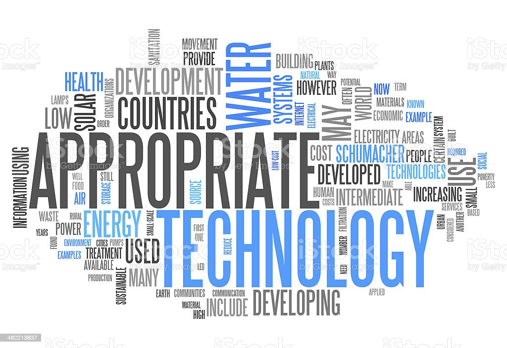 Word Cloud 'Appropriate Technology' vector art illustration