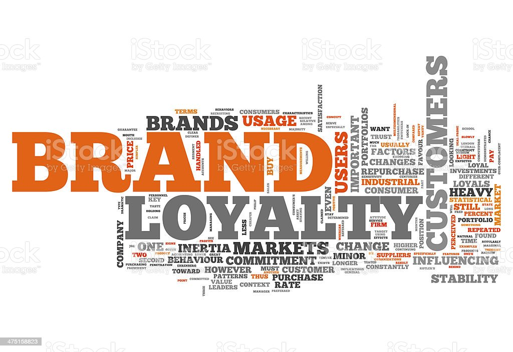 Word Cloud Brand Loyalty vector art illustration