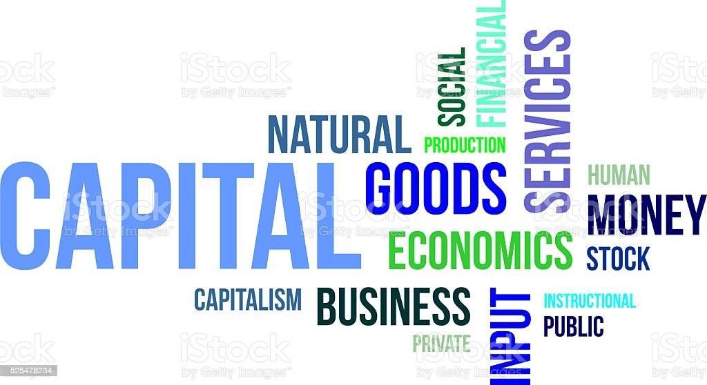 word cloud - capital vector art illustration