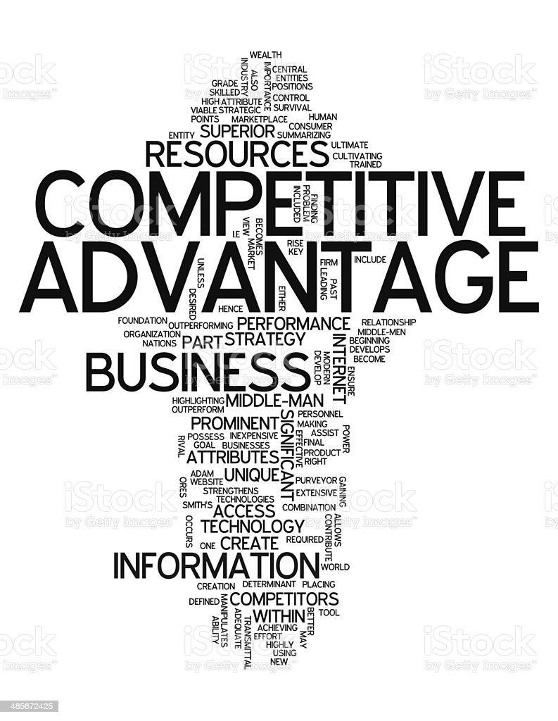 Word Cloud Competitive Advantage vector art illustration