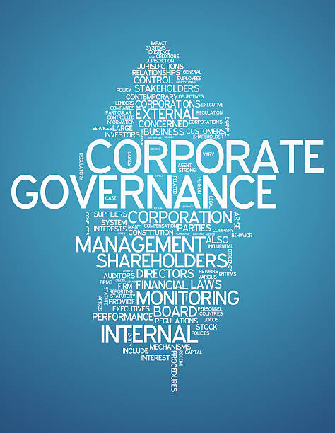 Word Cloud Corporate Governance vector art illustration