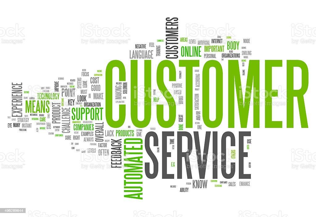 Word Cloud Customer Service Stock Illustration