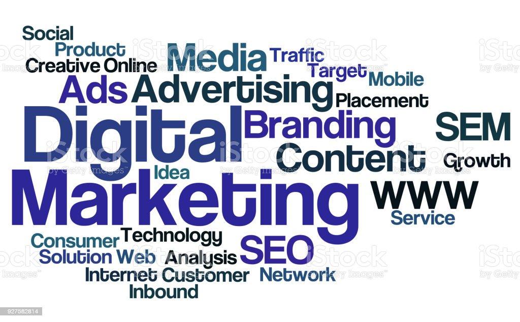 Word Cloud Digital Marketing Stock Illustration - Download Image Now