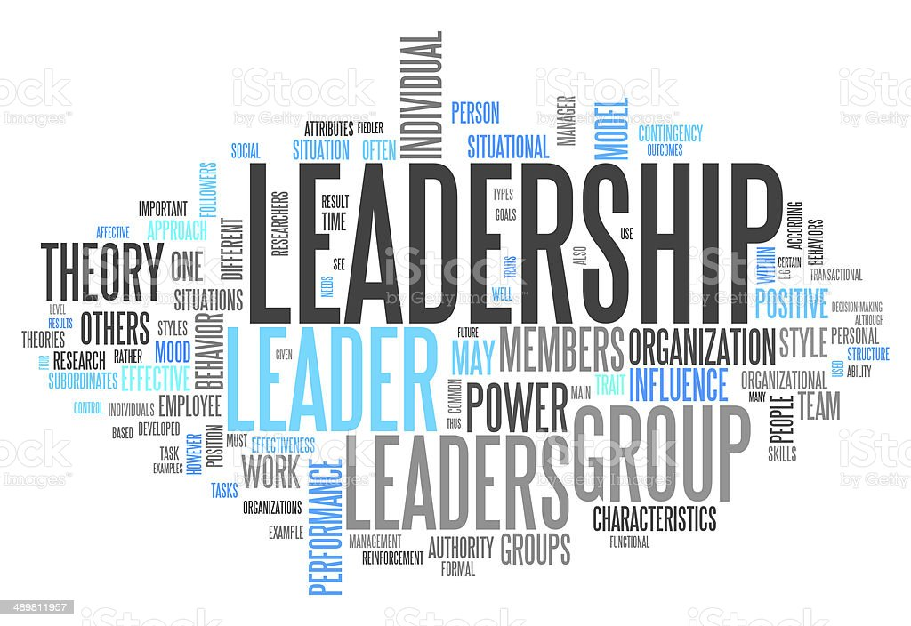 Word Cloud Leadership vector art illustration