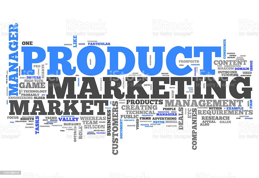 Word Cloud Product Marketing vector art illustration