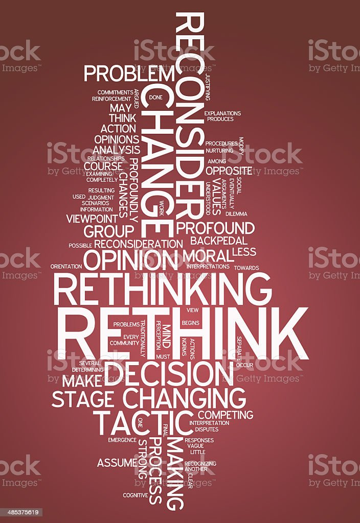 Word Cloud Rethink vector art illustration