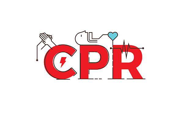 CPR word design illustration vector art illustration