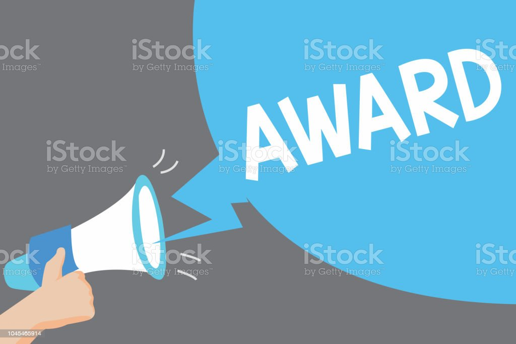 word writing text award business concept for prize and other mark of