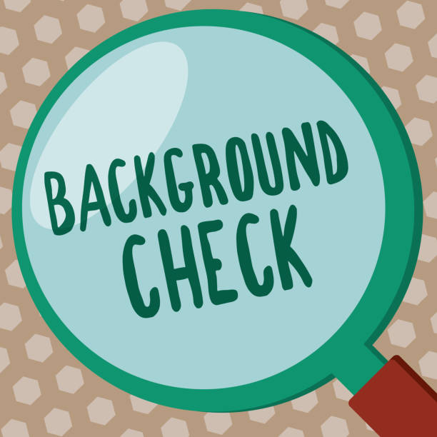 Word writing text Background Check. Business concept for way to discover issues that could affect your business Word writing text Background Check. Business concept for way to discover issues that could affect your business. police interview stock illustrations
